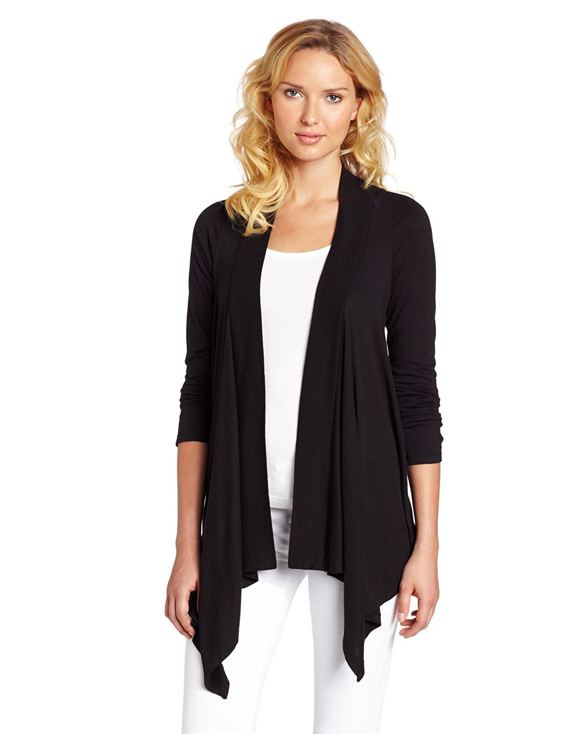 Amazon.com: Splendid Women's Jersey Wrap Cardigan: Clothing ...