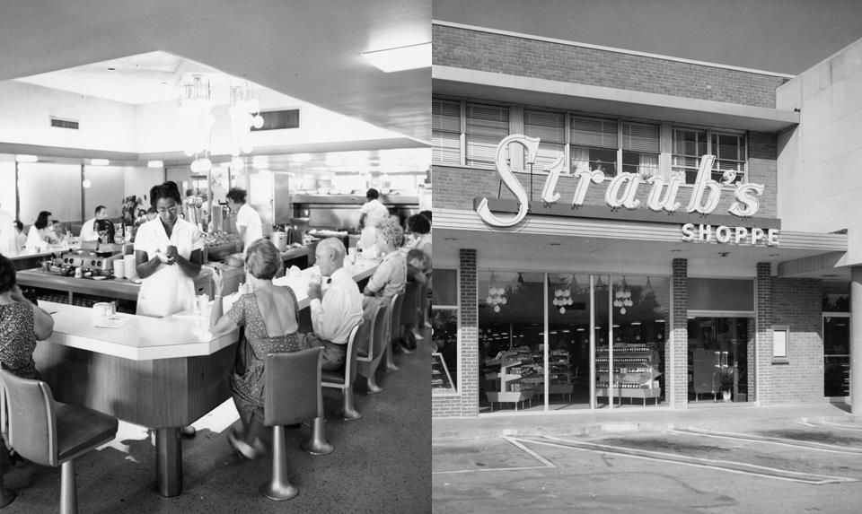 October 1 1957 straubs opened the brentwood shoppe that