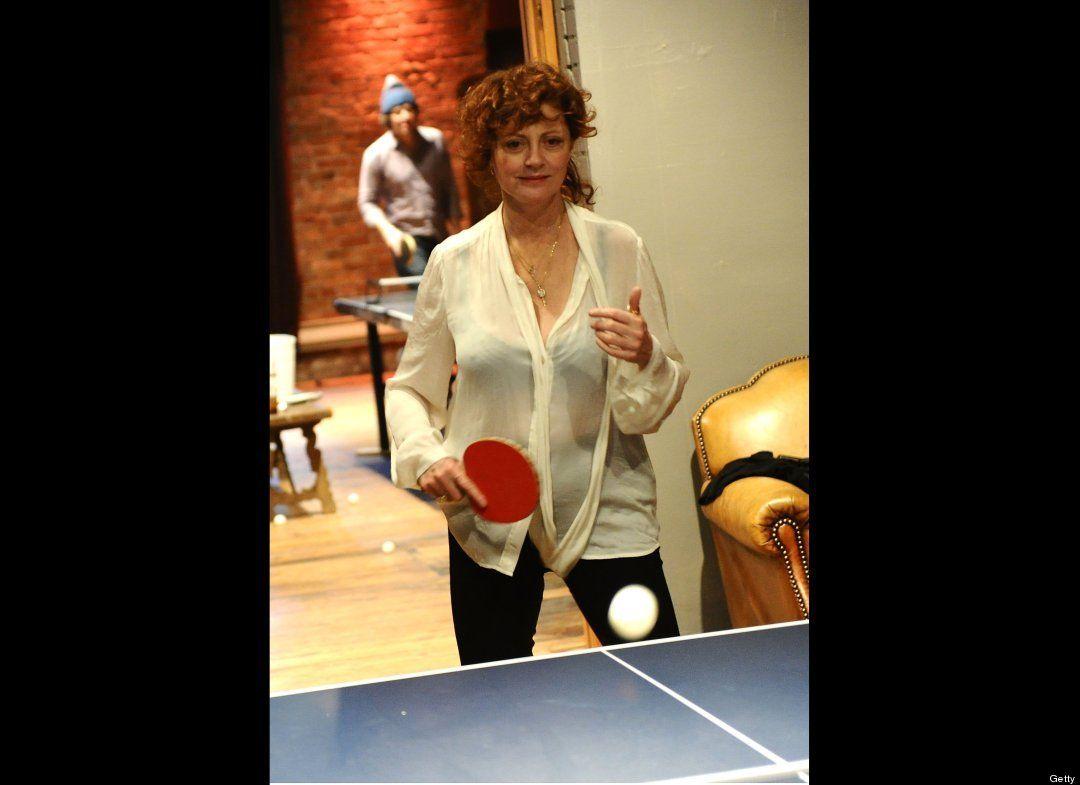 Susan Sarandon Ping pong Susan Sarandon loves to play