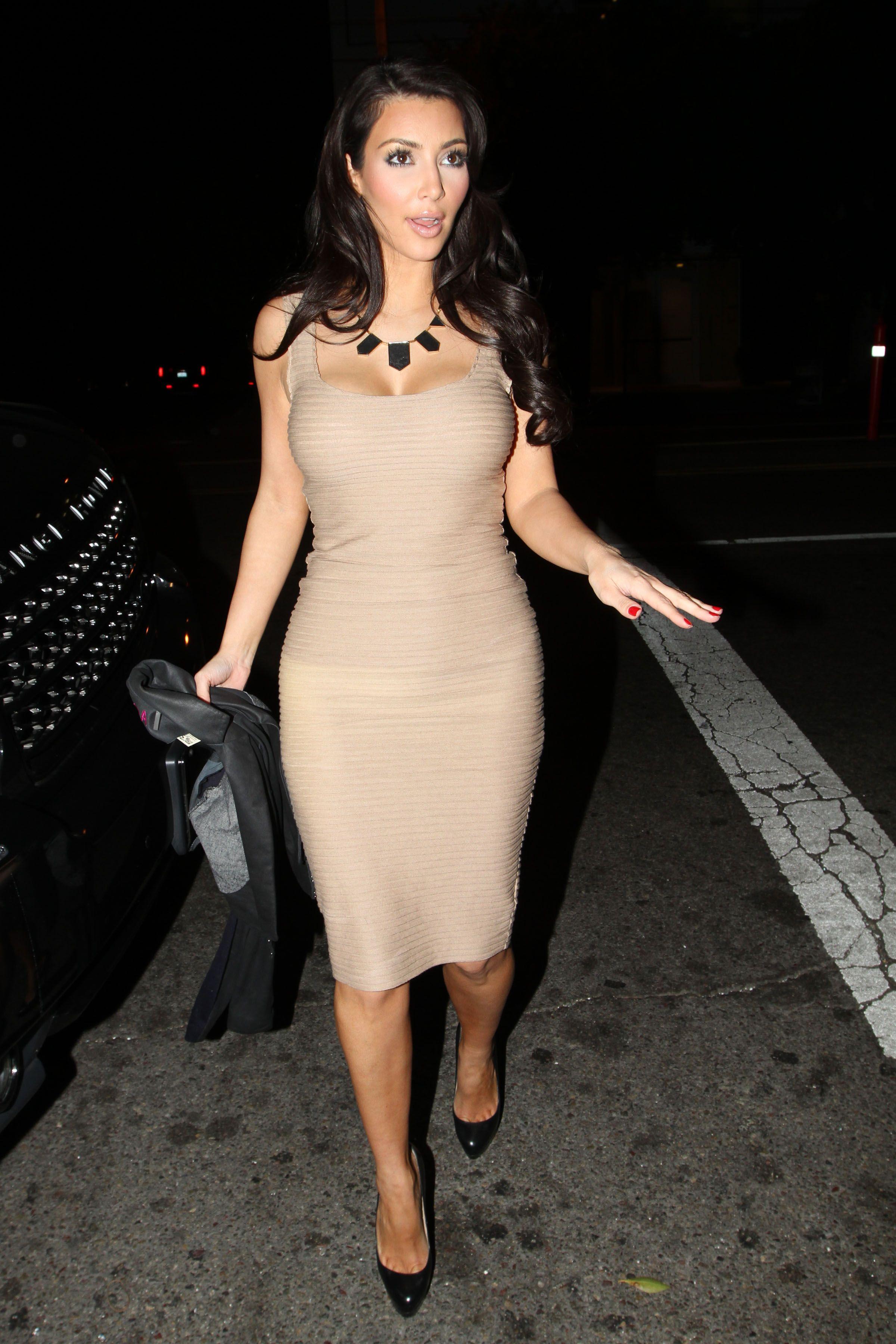 01672757a91 beige dress kim kardashian