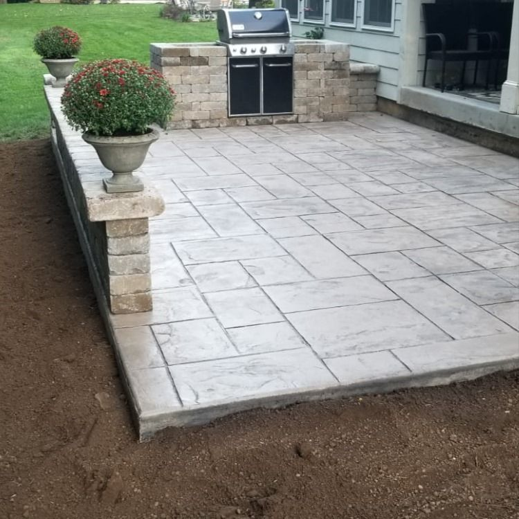 decorative concrete patio decorative