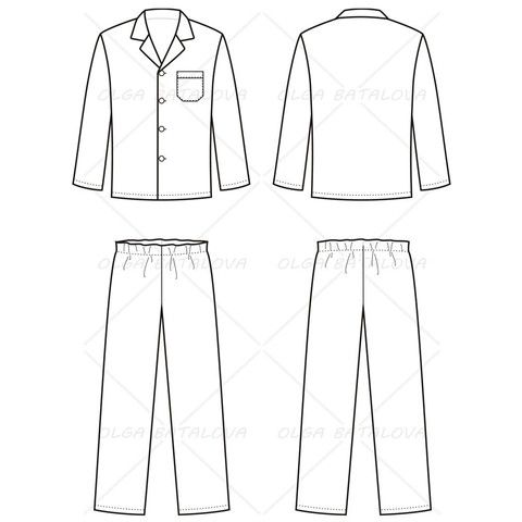 men s pajama fashion flat template in 2018 card get well