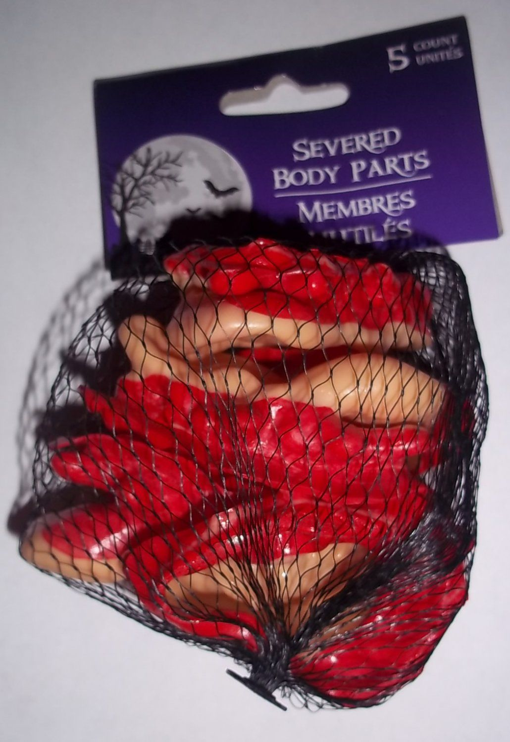 5 Pack Severed Bloody Gory Ears Halloween Decorations