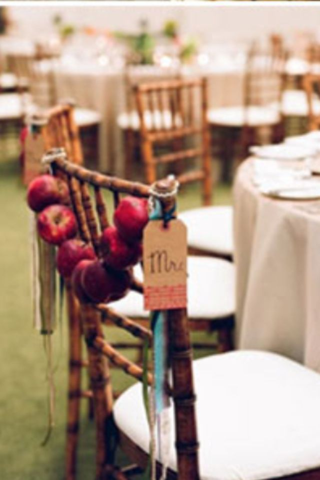Autumn Wedding Decorations Diy Chair Easy Wedding Pinterest