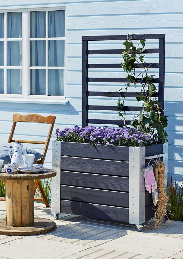 die besten 25 blumenkasten mit spalier ideen auf pinterest rebspelz rankgitter und bl hende. Black Bedroom Furniture Sets. Home Design Ideas