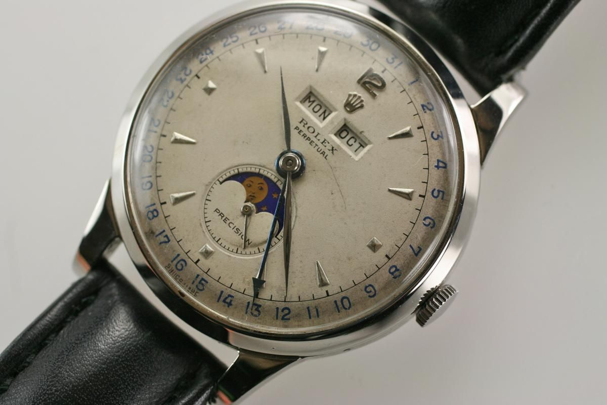Vintage of the Week Rolex Moonphase Padellone 8171