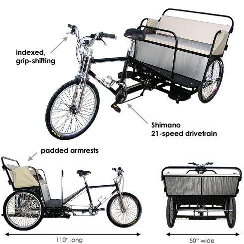 Main Street Pedicabs™ | The Boardwalk Pedicab™ (Schematic