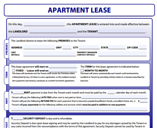 Sample Lease Application. Printable Sample Free Rental Application ...