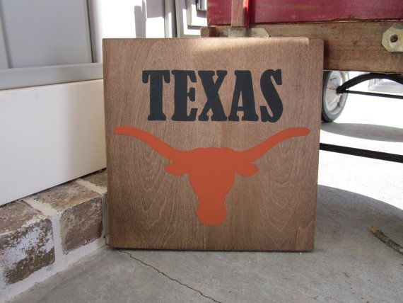 Texas Longhorns - Painted Wood Sign art, wall decor, Wood Quote ...