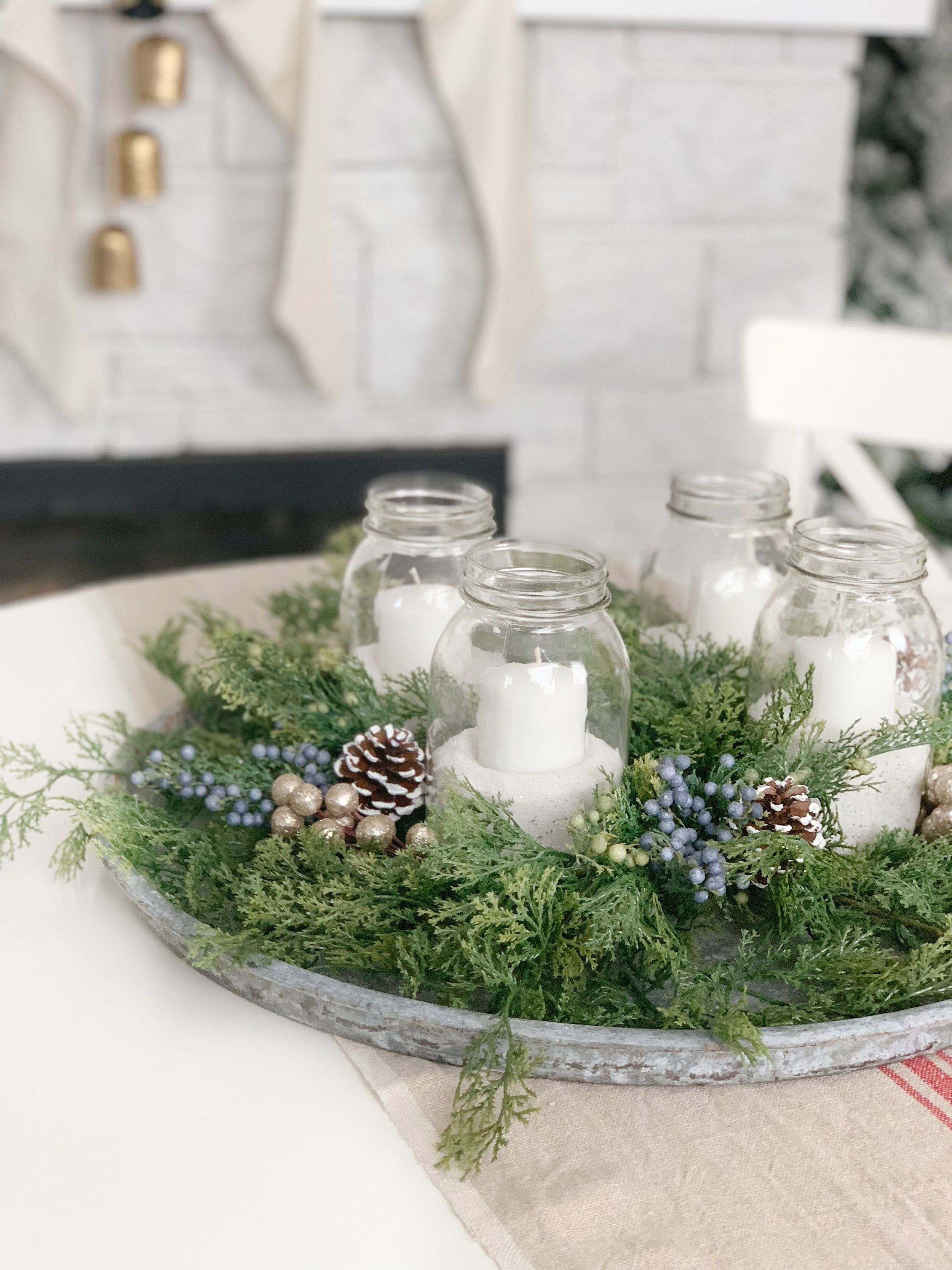 Easy DIY Advent Centerpiece with JOANN - Dining Room Tour ...