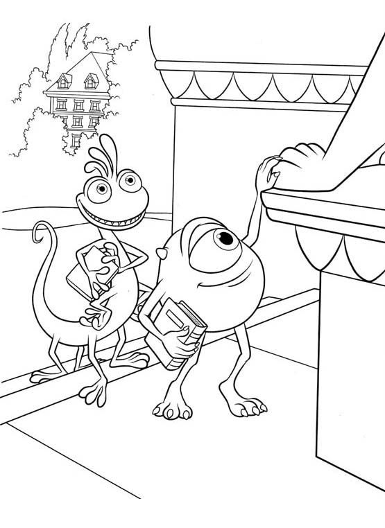Photos Mike With Randall Coloring Pages - Monster Inc Coloring Pages ...