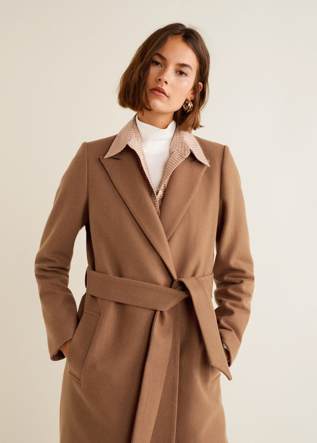 a708ada51de Abrigo lana estructurado - Abrigos de Mujer
