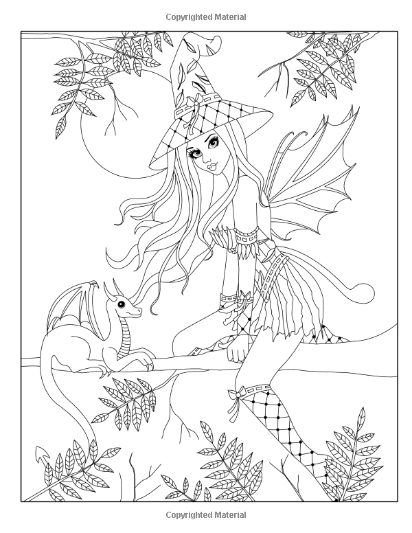 Spellbinding Images: A Fantasy Coloring Book (Volume 2): Nikki ...