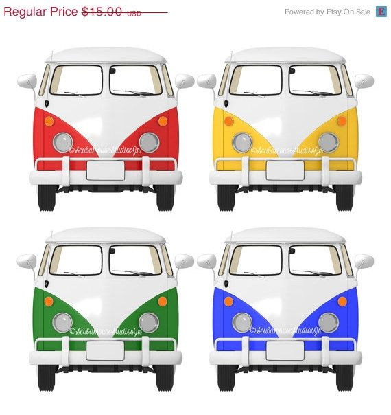 vw bus clipart transportation clip art retro vw van bus digital rh pinterest co uk vw bus clipart volkswagen bus clipart