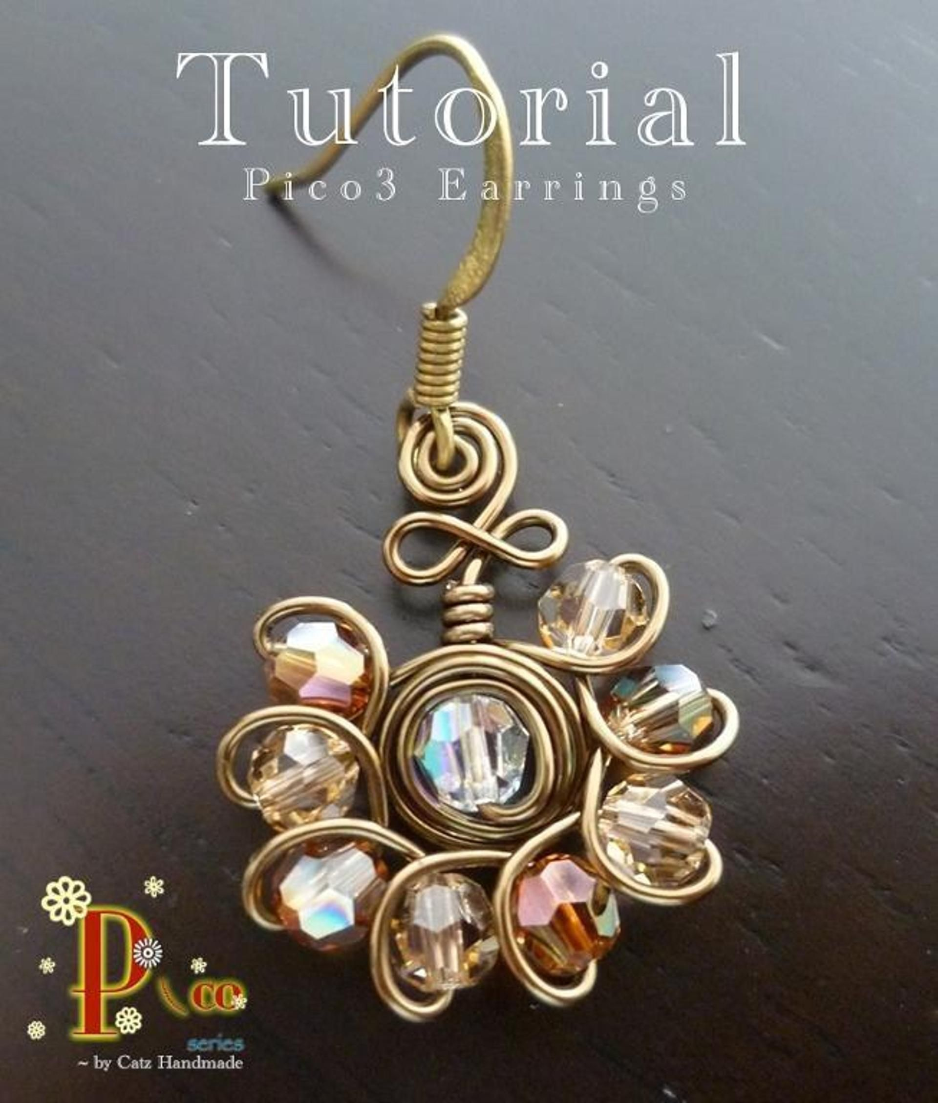 Pico3 Earrings   Beads, Jewelry ideas and Wire wrapping