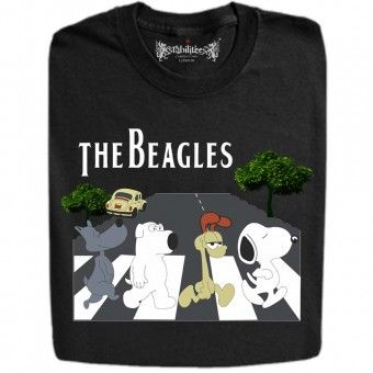 Beagles On Abbey Road T Shirt And Hoodie Slogan Tshirt Funny