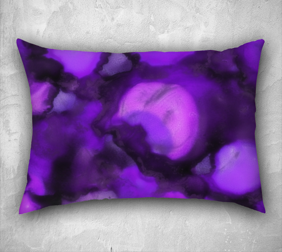 Petals, Lilac - Pillow Cover, Lumbar, 26x20