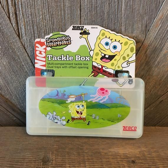 Vintage Spongebob Squarepants Tackle Box Plastic Organizational Container Bead Sorter Caboodles 90s 2000's toys vintage Nickelodeon Toy Kids #90'stoys