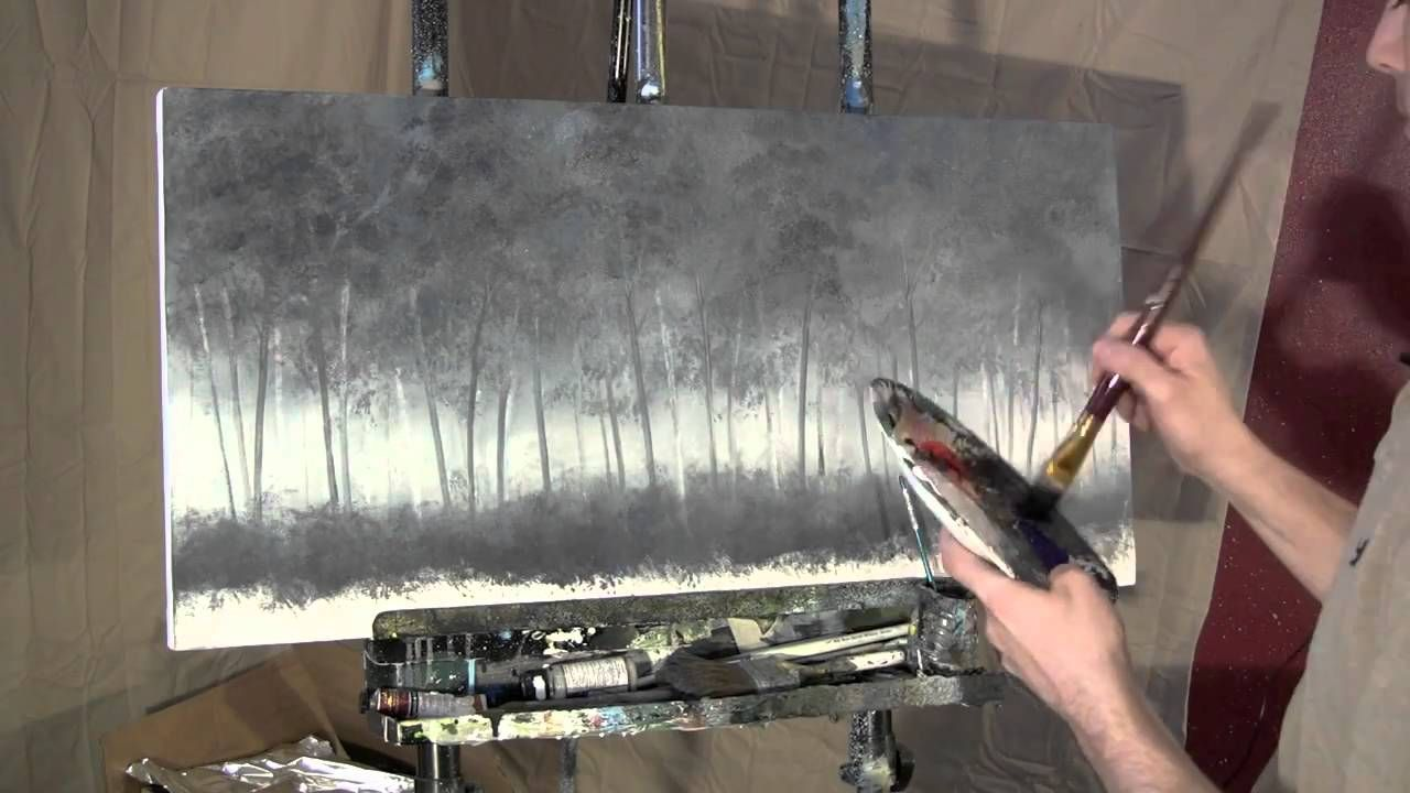 Time Lapse Speed Acrylic Painting I See Me In A Tree By Tim Gagnon