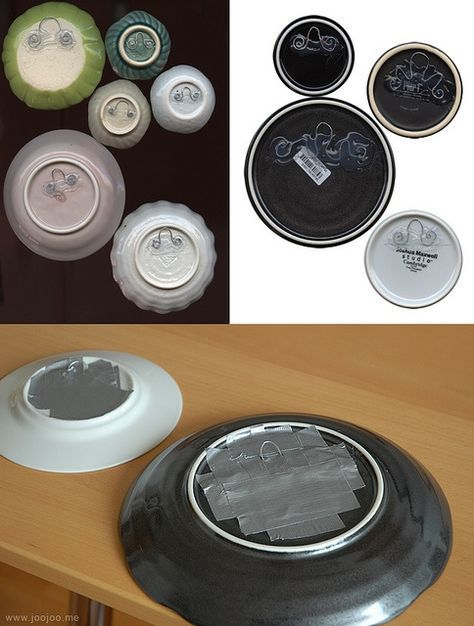How to hang plates on wall without plate hangers by JooJoo via Flickr @ MyHomeLookBookMyHomeLookBook & How to hang plates on wall without plate hangers by JooJoo via ...