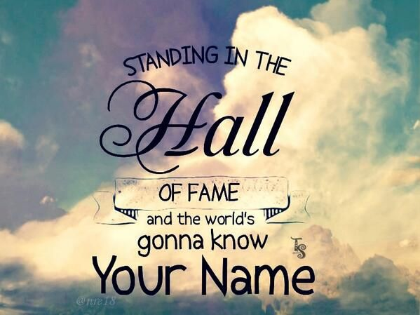 Hall Of Fame Fame Quotes Cool Lyrics Song Quotes