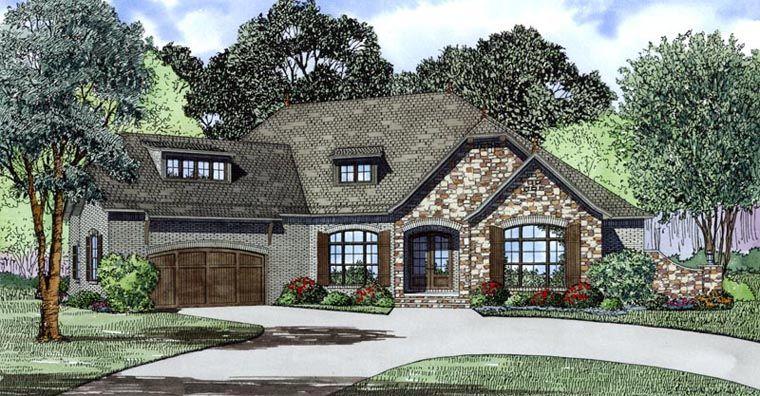 European Style House Plan 82170 With 4 Bed 3 Bath 2 Car Garage Haus Raum