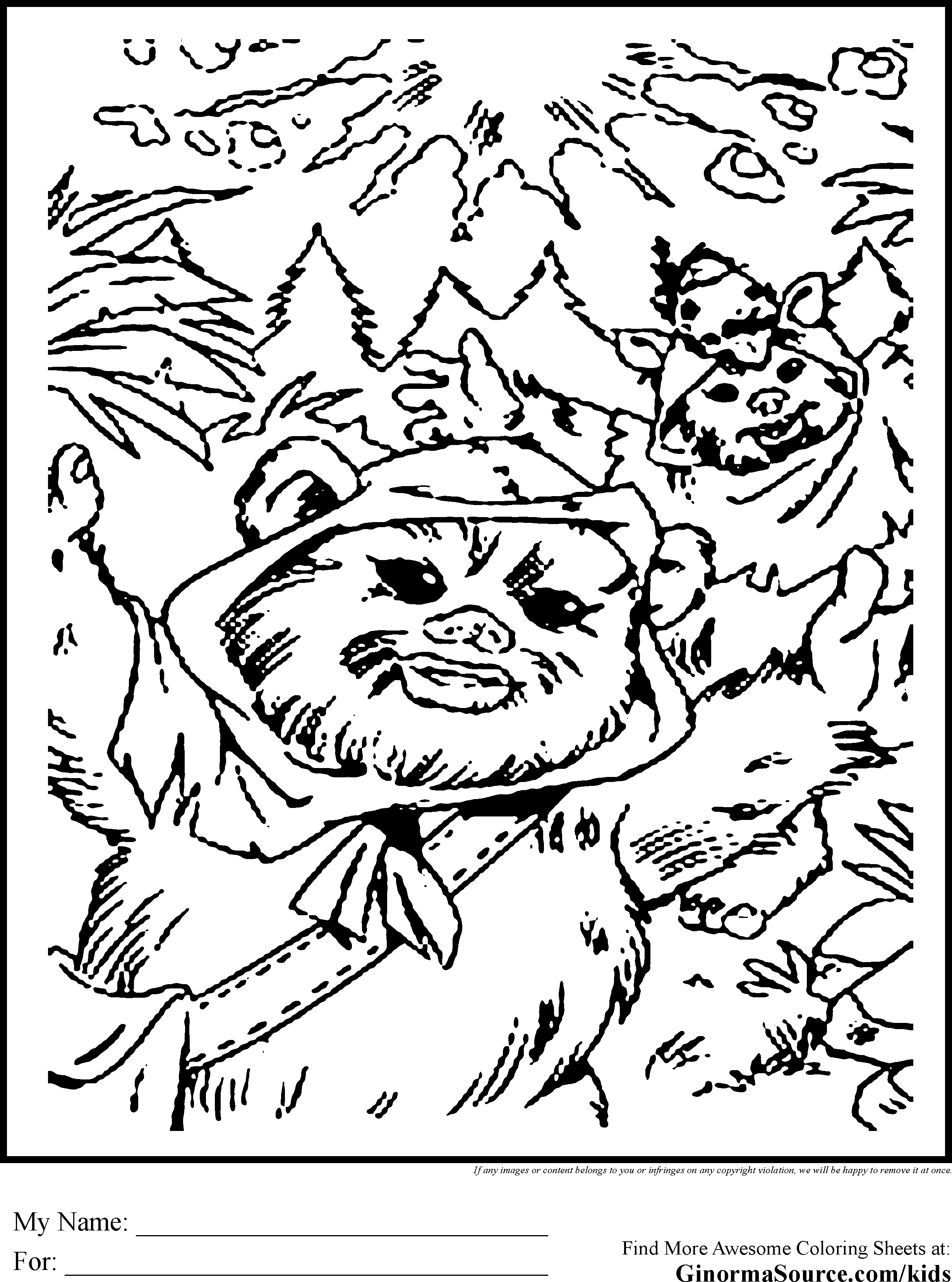 Free Printable Ewoks Coloring Pages