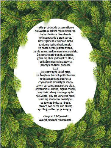 Wojciech Młynarski Wiersz Na Boże Narodzenie Boże