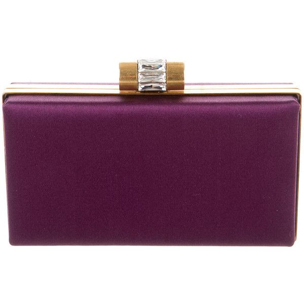 Pre-owned Yves Saint Laurent Satin Clutch ($275) ❤ liked on Polyvore featuring bags, handbags, clutches, purple, preowned handbags, purple handbags, satin clutches, satin handbags and purple purse