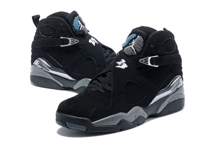 2017 Air Jordan 8 Retro Black/Chrome For Sale