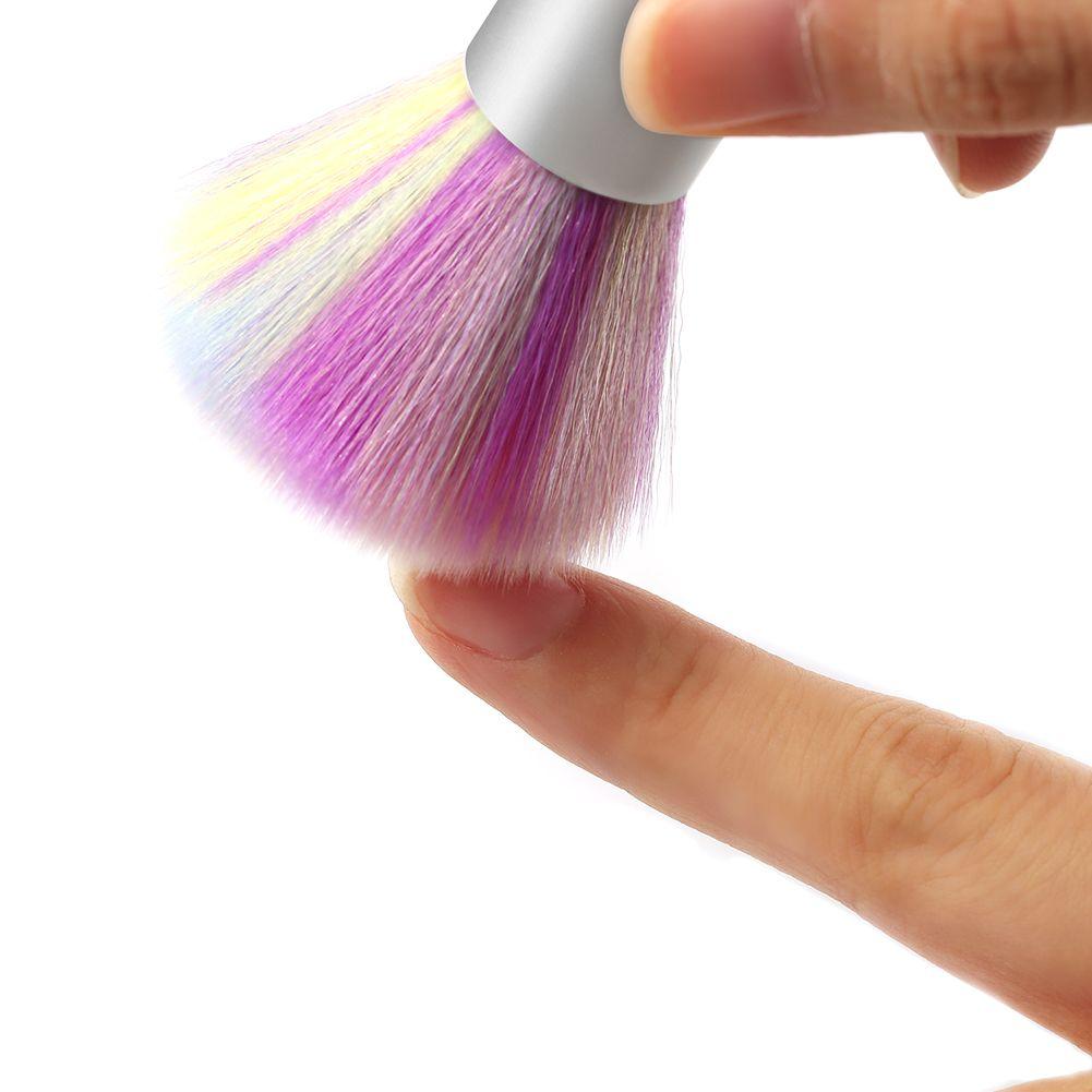 Shelloloh Manicure Tool Nail Brush Colorful Nail Cleaning Brush Nail Art Tool Clean Nails Manicure Nail Brushes
