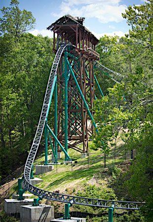 YEEHAW!! Illustration of Verbolten roller coaster, Busch Gardens ...