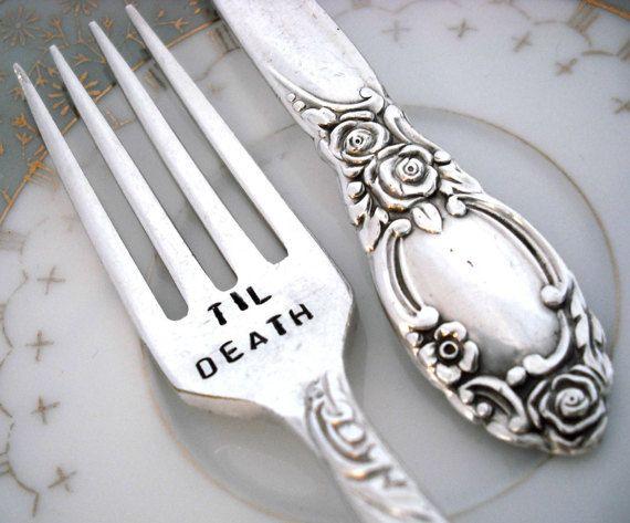 Gothic Wedding -Til Death Do Us Part - Wedding Forks - Ballad 1953