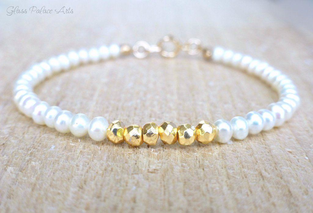 Freshwater Pearl Bracelet Modern Pearl Bracelet Wedding Jewelry