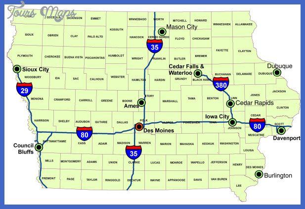 Map Of Iowa Iowa County Map Iowa Interstate Highway Map