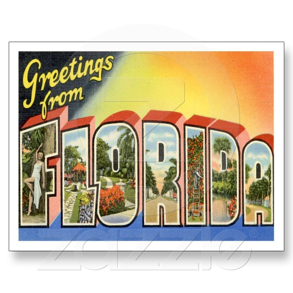 Greetings from florida postcard cruises greetings from florida postcard kristyandbryce Image collections