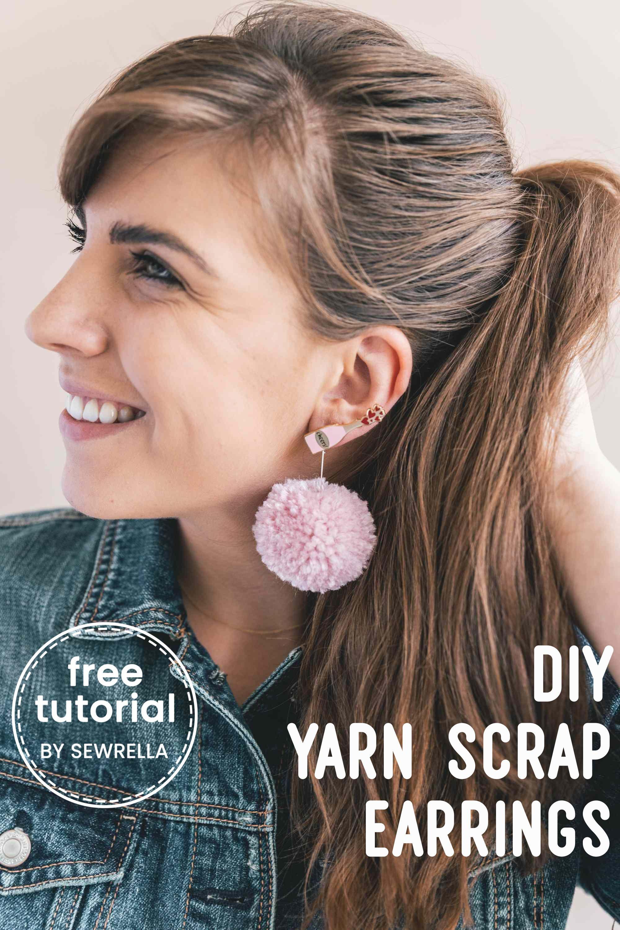 Diy Yarn Scrap Earrings 3 Ways Grace And Yarn Crochet Community
