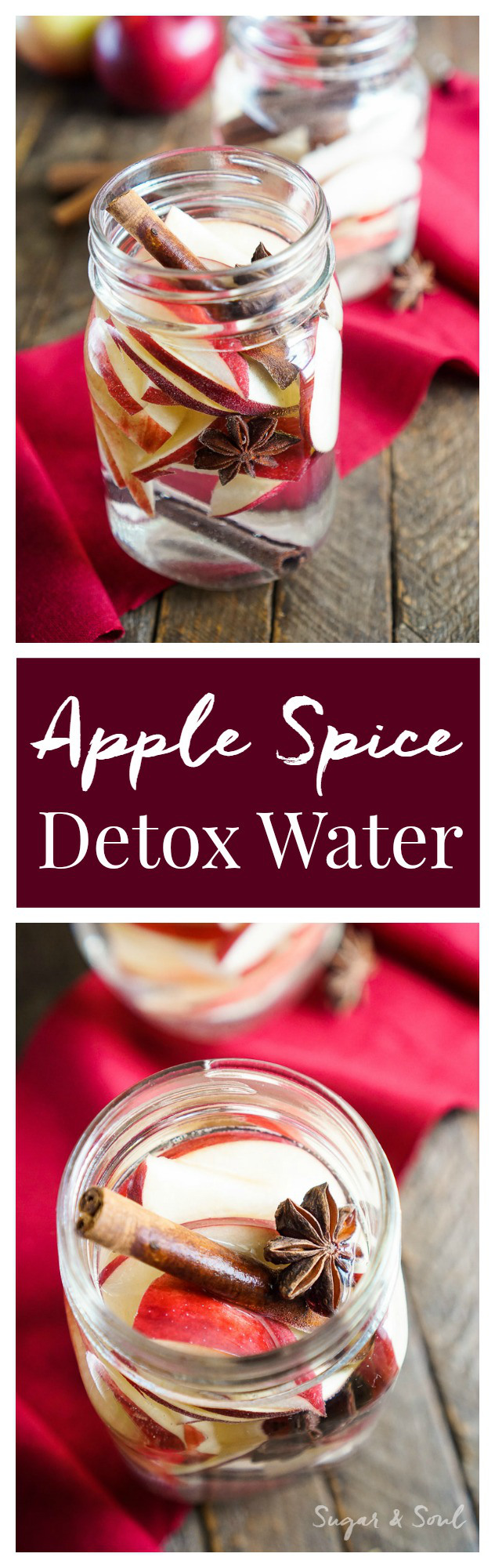 This Apple Spice Detox Water is a simple infusion and a great way to enjoy the flavors of the season without all the sugar!