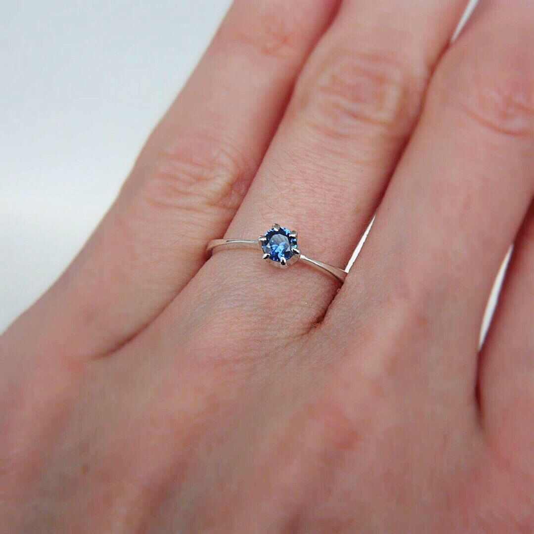 Blue Sapphire Ring, size 6US ready to ship | Accessories | Pinterest ...