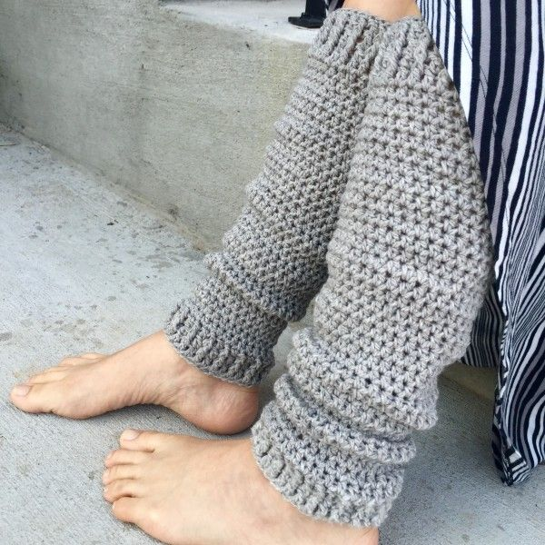 On Your Toes Leg Warmers Crochet Pattern Child Adult Plus Size