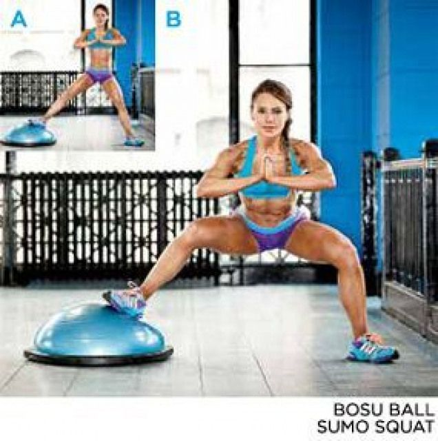 Bosu Ball Exercises For Athletes: The Secret To Gorgeous Glutes -EXERCISE 3// BOSU BALL SUMO