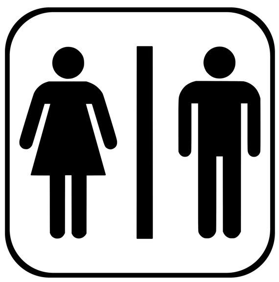 Men Women Restroom Decal Bathroom Sign Restroom Sign Etsy