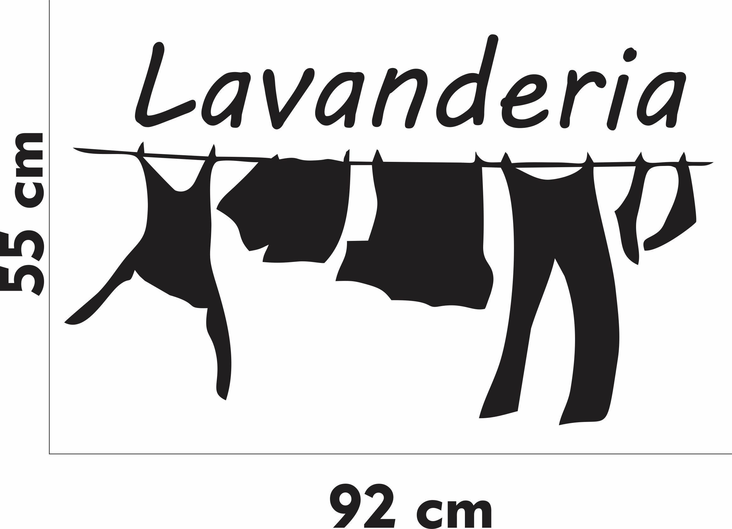 Adesivo Parede Frase Lavanderia Roupa Laundry -> Fran Adesivos