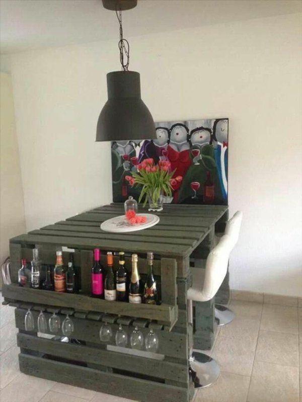 diy hausbar aus europaletten bartheke bauen Hausbar Pinterest - wohnideen von europaletten