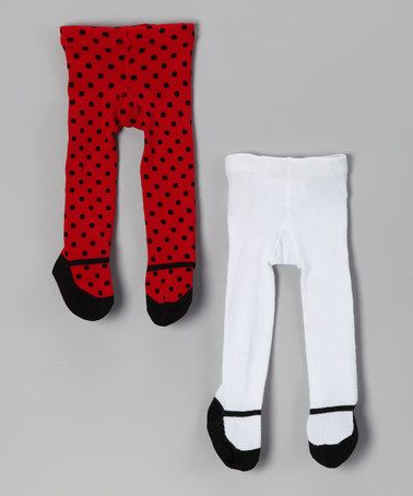 720c65dec Take a look at this Red & White Polka Dot Mary Jane Tights Set by Baby  Essentials on #zulily today!
