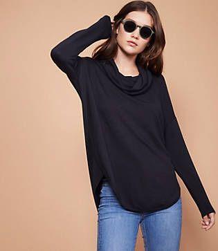 5d6bbd0fe6a0 Lou   Grey Signaturesoft Cowl Shirttail Top