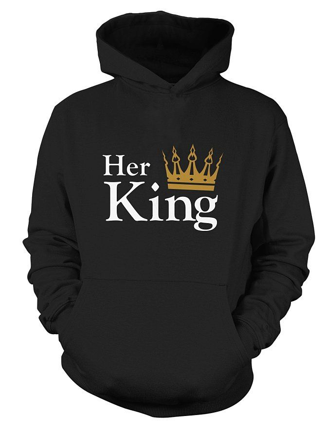 bb024fb23 Her King Hoodie ----------------------- couple shirt, couple hoodie, matching  hoodie, couple wear, couple goals, relationship goals, gift ideas, ...