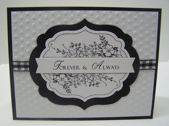 Stampin up handmade greeting card: anniversary wedding card love