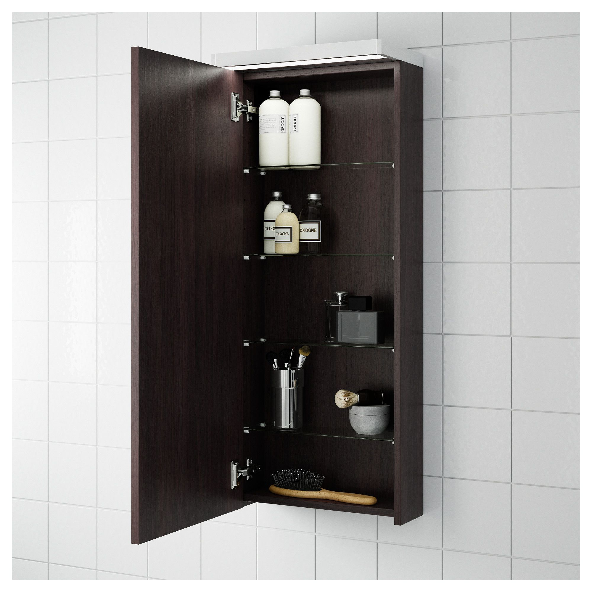 Ikea Kitchen Wall Storage: GODMORGON Wall Cabinet With 1 Door Black-brown In