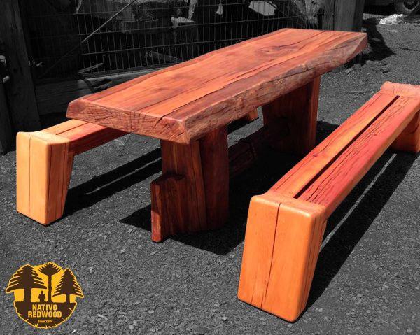 Nativo Redwood Banca De Roble Rustico Con Maderos De Una Pieza Dimensiones 0 35x2 00 Www Facebook Com Nativoredwoodsa